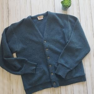 Vintage wool blend cardigan sweater size L